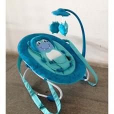 Детский шезлонг качалка Baby Tilly BT-BB-0002 (голубой)