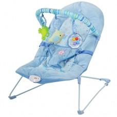 Детский шезлонг-качалка 30602-6-8 голубой