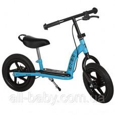 Детский беговел на резиновых колесах M 3438AB-2 Profi kids 12 дюймов (голубой)