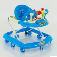 Детские ходунки музыкальные модель 528 (голубой)