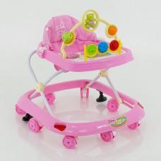 Детские музыкальные ходунки модель 258 (розовый)