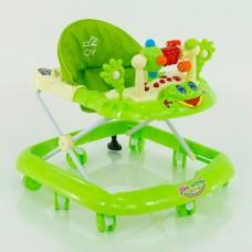Детские ходунки музыкальные модель 528 (зеленый)