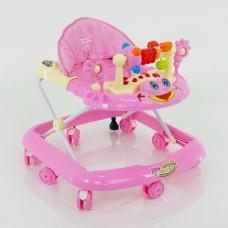 Детские ходунки музыкальные модель 528 (розовые)