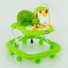 Детские ходунки музыкальные модель D28 (зеленый)
