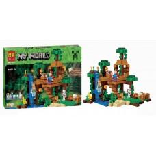 Конструктор Bela 10471 Домик на дереве в джунглях Minecraft (аналог LEGO Minecraft 21125) 718 деталей