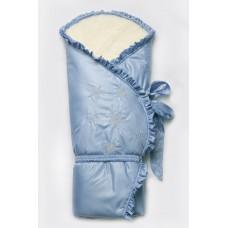 """Зимний конверт-одеяло """"Сказка"""" голубой"""