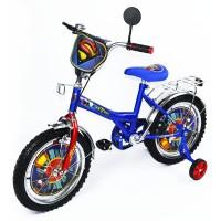Детский велосипед 16'' BT-CB-0008 Супермен синий с красным