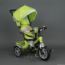 Велосипед Best Trike 5688 с поворотным сиденьем (надувные колёса) салатовый